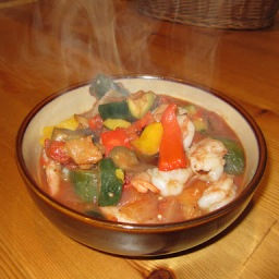 Anyone Can Cook Shrimp Ratatouille