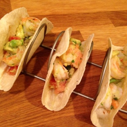 You Can't Argue with Easy: Seviche-Style Shrimp and Avocado Tacos