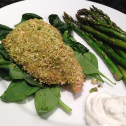 Feeling Heavy? Lighten Up With Pistachio-Crusted Chicken Breasts