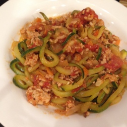 Welcoming Spring with Zucchini Pasta and Turkey Ragu
